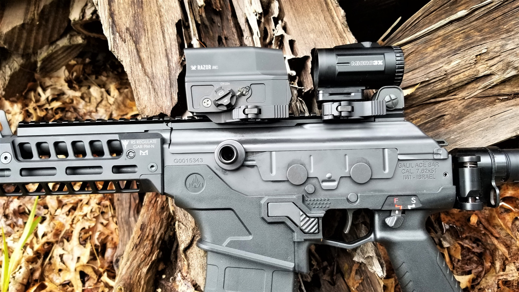 "Vortex Optics Razor AMG UH-1 ""Huey"" holographic sight and Micro 3X magnifier"