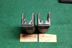 (L) Izhmash and (R) Arsenal US.  Not difference in the supports of the rear tab.